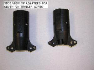 Side view of wire adapters.